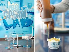 Ice Cream Lab in Beverly Hills (they instantly freeze your ice cream in front of you!)