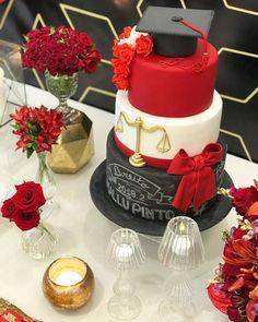 Graduation Party Centerpieces, Graduation Party Planning, Graduation Celebration, Graduation Party Decor, Celebration Cakes, Graduation Cake Designs, Bolo Fondant, Nurse Cookies, Dummy Cake