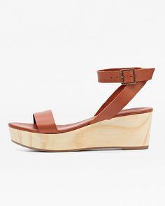 f3f94b9d0dc8f Sarita Wooden Wedge Sandal Whiskey Wedge Sandals