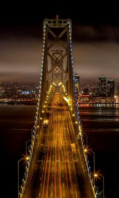 The old Bay Bridge, driving into the city: San Francisco, California, U. San Francisco Bay, San Francisco California, San Diego, California Usa, Wonderful Places, Beautiful Places, Tour Eiffel, Places Around The World, Belle Photo