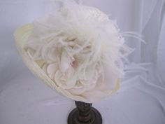 Ivory Victorian Bridal Cloche Hat #13044