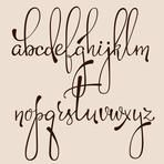 Handwritten Pointed Pen ✒ Ink Style Decorative Calligraphy Cursive Font. Calligraphy Alphabet.