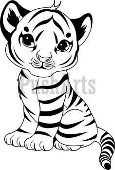 Places To Visit On Pinterest Cute Tigers Coloring Pages Tiger Cub Coloring Pages