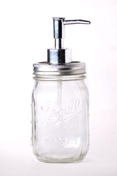 Mason Jar Soap Dispenser  Vintage  Modern Rustic by NemaSoap, $8.00