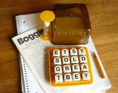1970S Vintage Toys And Games | Vintage Boggle Parker word game, 19 77, 1970s, 70s, word game, very ...