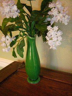 Vintage 50S Shawnee Green Vase Ewer by SweetSmilingSherri on Etsy, $12.00