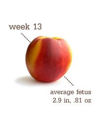 13 Weeks Pregnant Belly First 13 Weeks Pregnant Belly, Pregnant Diet, Second Trimester, Be My Baby, How Big Is Baby, Baby Weeks, Baby Fruit, Little Peach, Recipes