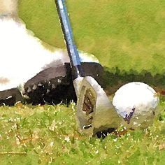 A personal favorite from my Etsy shop https://www.etsy.com/listing/233239379/golf-club-golf-ball-golf-shoe-golfer