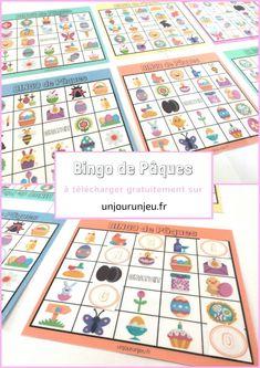 Bingo de Pâques Bingo, School Play, Easter Activities, Ale, Kindergarten, Homeschool, Kids, Children, Voici
