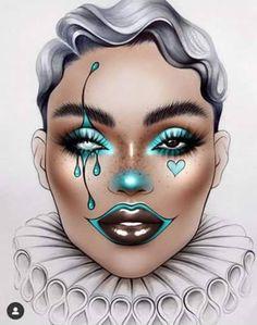 Jester~ Makeup Eye Looks, Eye Makeup Art, Colorful Eye Makeup, Clown Makeup, Crazy Makeup, Cute Makeup, Arabic Makeup, Indian Makeup, Mask Makeup