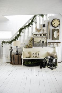 Cozy Farmhouse Winter Entryway