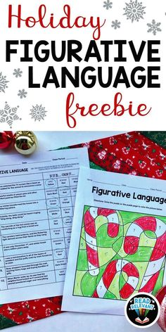"Need something fun and festive for your ELA class? This no-prep activity will be great for the holiday season. Keep your kids focused and engaged while the year comes to an end.  This product does not specifically mention Christmas or any other holidays by name. It does mention ""holidays"" and the things people do to celebrate during the season. I made sure the images and content were all as secular as possible so it would be appropriate for most, if not all, students.  #figurativelanguage #ela"