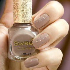 ... Girls Nails, Nail Polish Colors, Manicure, Nail Art, Environment, Brown, Sweet, Finger Nails, Nail Bar