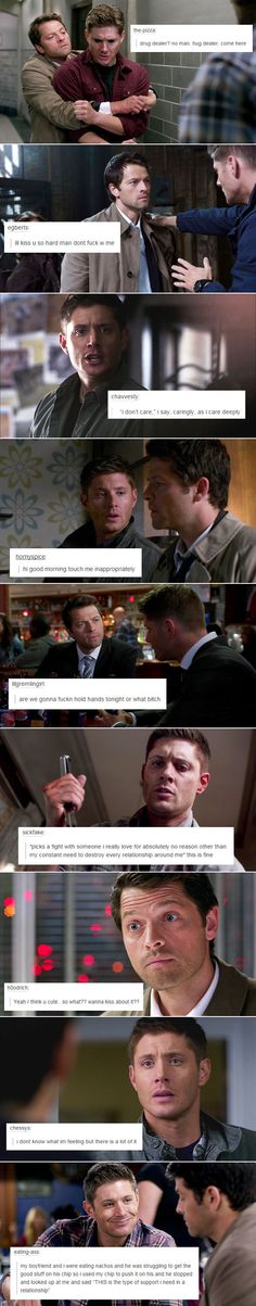 I don't know what I'm feeling bit there's a lot of it -- yep sums up dean winchester.