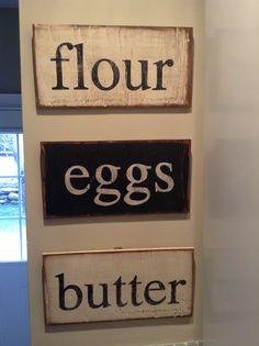 Flour eggs butter