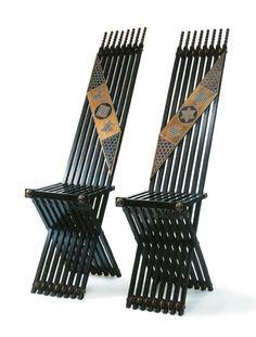 Chairs    Carlo Bugatti, 1900    Christie's