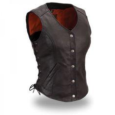 """Women Leather Vest """" Women Leather Vest"""