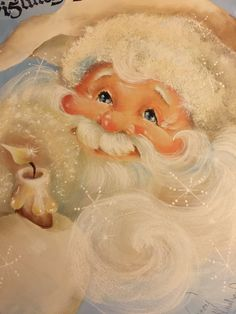 Merry Christmas To All, Father Christmas, Retro Christmas, Christmas Morning, Christmas Art, Christmas Decorations, Santa Pictures, Christmas Pictures, Santa Paintings