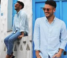 Image result for jeans with blue shirt