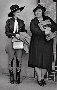 John Gutmann, Texas Women, 1937...This picture is just so odd, I keep imagining the stories behind it.... Repinned by #Rx4Nails.com