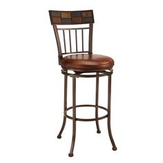 Montero Bar Swivel Stool by Hillsdale at Dunk & Bright Furniture