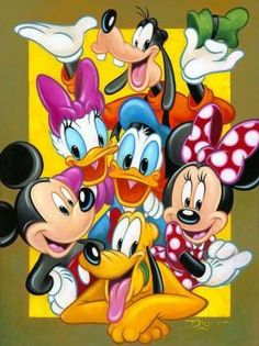 Mickey Mouse and friends Disney Mickey Mouse, Arte Do Mickey Mouse, Mickey Mouse Y Amigos, Mickey Mouse And Friends, Mickey Mouse Cartoon, Disney Fine Art, Disney Fun, Disney Cartoon Characters, Disney Cartoons