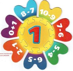 ‿✿⁀Numbers‿✿⁀ Math Addition, Addition And Subtraction, Math Classroom, Classroom Decor, Math Games, Activities For Kids, School Painting, Kids Study, Math Numbers