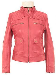 pink motorcycle jacket