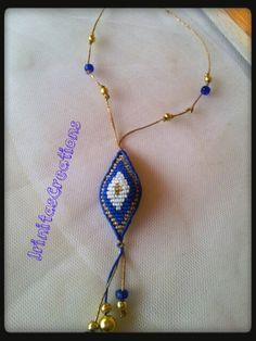 Evil eye necklace/Evil eye macrame/Macrame by IrinitasCreations Macrame Necklace, Macrame Jewelry, Bohemian Jewelry, Gemstone Jewelry, Beaded Bracelets, Macrame Thread, Macrame Dress, Evil Eye Necklace, Fashion Bracelets