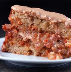 Banana Butterscotch Chip Cake with Brown Sugar Frosting