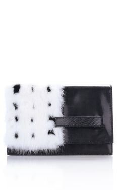 Valentino Mink and Lizard Clutch