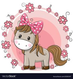 Illustration about Greeting card Cute Cartoon Horse with flowers. Illustration of flower, heart, horse - 116095179 Cartoon Cartoon, Kids Cartoon Characters, Horse Cartoon, Cartoon Images, Unicorn Art, Cute Unicorn, Environmental Crafts, Horse Flowers, Image Deco