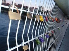 Love locks over the Danube in Regensburg, Germany!  Soon coming to Orion,Illinois!