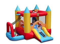 The 4 in 1 Play Centre Jumping Castle has been designed to entertain all children whether they want to jump area, sit in the ball pit or shoot hoops. Toys R Us, Bouncy House, Bouncy Castle, Trampolines, Happy Hop, Kids Play Centre, Structures Gonflables, Outdoor Fun, Outdoor Decor