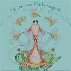 Ich bin ein Glücksmagnet Poster mit positiven Affirmationen für unsere kleinen Yogakids