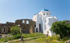 Kirche auf Astypalea, Griechenland © Nisa Maier Hotels, Mansions, House Styles, Viajes, Last Minute Vacation, Greek Islands, Greece, Manor Houses, Villas