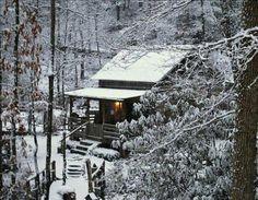 West Virginia winter cabin...