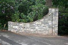 stone wall driveway - Google Search