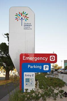 Pylon Signage, Park Signage, Wayfinding Signage, Parking Design, Signage Design, Environmental Graphics, Environmental Design, Hospital Floor Plan, Hospital Signage