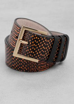 & Other Stories | Reptile Texture Leather Belt.