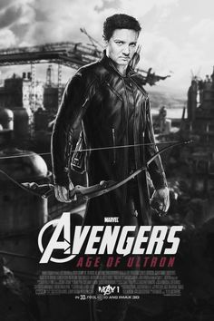HAWKEYE // Alternative character poster for Avengers: Age of Ultron cr. staingirl.tumblr.com