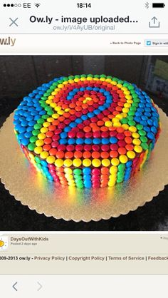 Great idea for a kids cake. Easy but effective