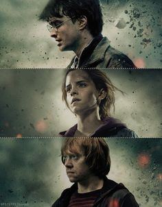 Absolutely LOVED the promo pictures and posters for the very last film! #HarryPotter #RonWeasley #HermioneGranger