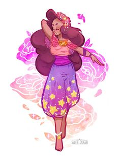 Steven/Connie Fusion Goddess Style by Sunset Dragon Steven Universe Wallpaper, Steven Universe Fusion, Perla Steven Universe, Geeks, Desenhos Cartoon Network, Character Art, Character Design, Chica Anime Manga, Art Nouveau