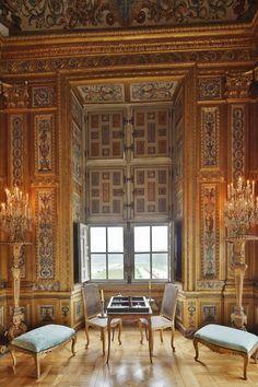 🌟Tante S!fr@ loves this 📌🌟Vaux-le-Vicomte : Le Cabinet des jeux ©Yann Piriou French Architecture, Architecture Details, Interior Architecture, French Interior, Classic Interior, Palace Interior, Interior And Exterior, Luís Xiv, Versailles