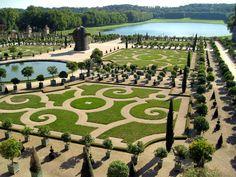 Jardim do Palácio de Versalhes.