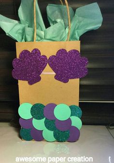 Create this fun gift bag for your mermaid loving friend!
