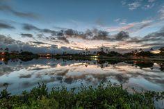 A lake near Pearl Harbor.  Kapilina Beach.