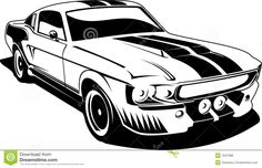 Sports Car With Flag Free Vectors