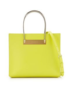 AJ Cable-Handle Shopper Tote, Yellow by Balenciaga at Neiman Marcus. $1785 FP